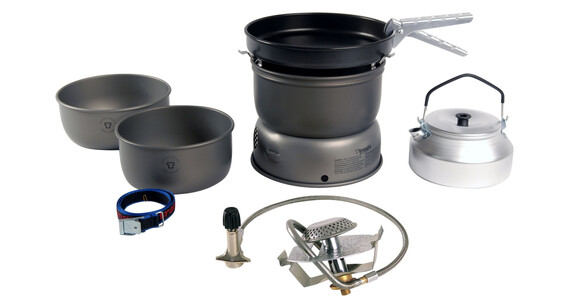 Trangia 25-4 UL ALU HA - Réchaud à gaz - Ultra léger alu avec brûleur à gaz gris